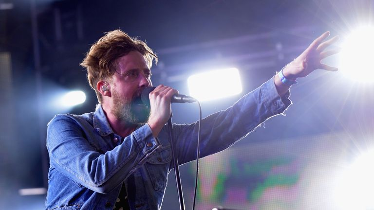 Ricky Wilson of the Kaiser Chiefs performs live during 'MTV Crashes Coventry' at Ricoh Arena on May 27, 2016 in Coventry, England.