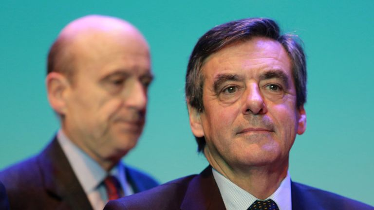 Francois Fillon (R) and Alain Juppe