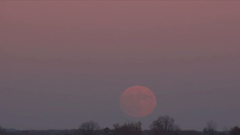 The supermoon rising over South West Michigan. Pic: Stochasticity