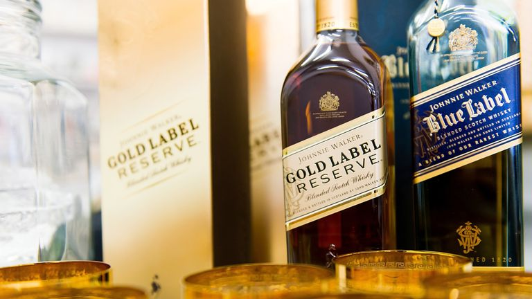 Diageo's stable includes the Johnnie Walker whisky brand