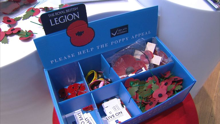 Poppies are worn to commemorate those killed in war