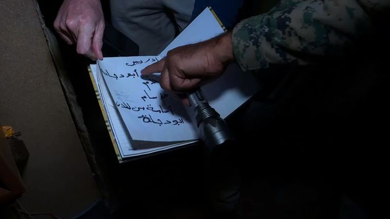 Notebooks detail the regulations that bound the men stationed in Bashiqa