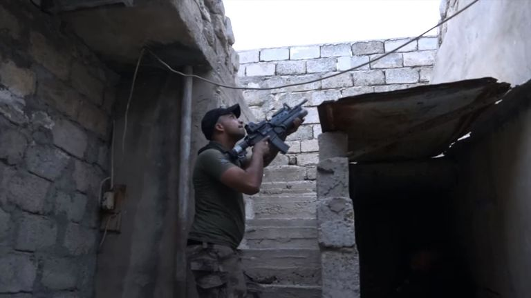 Iraqi fighters are cautiously advancing on IS positions