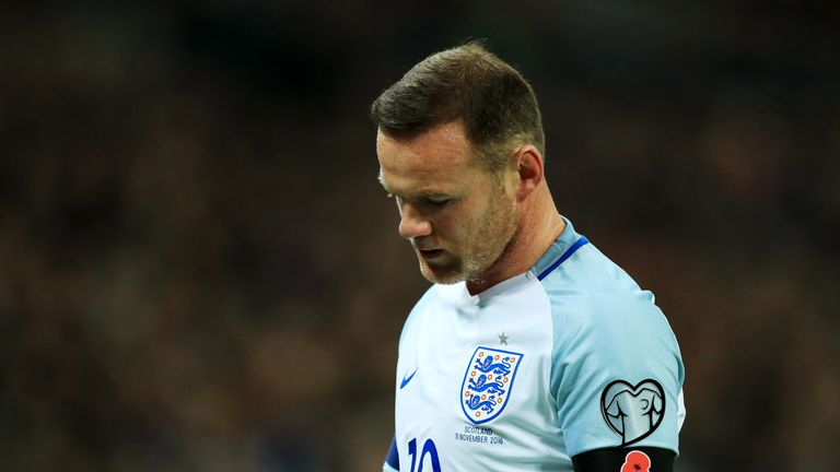 Wayne Rooney played in England's 3-0 win over Scotland