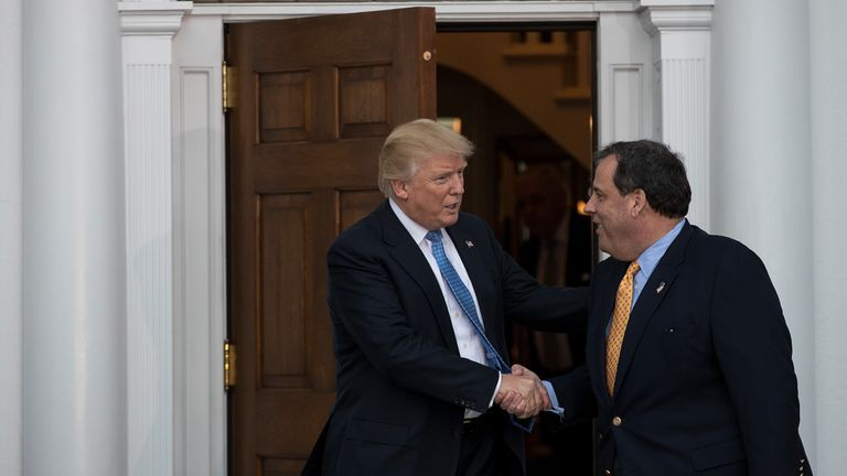 New Jersey Governor Chris Christie meeting Donald Trump at the weekend