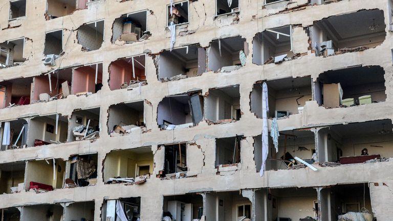 Buildings were heavily damaged in the blast in Diyarbakir