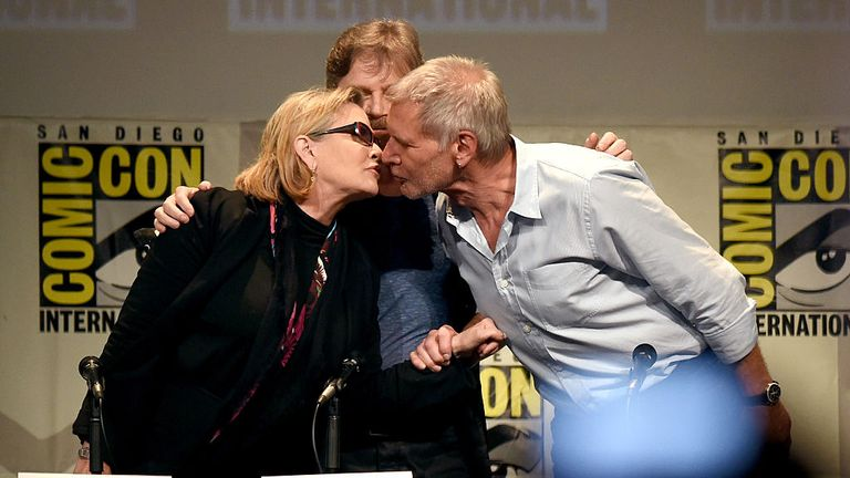 Old habits die hard - Fisher and Ford at Comic-Con 2015