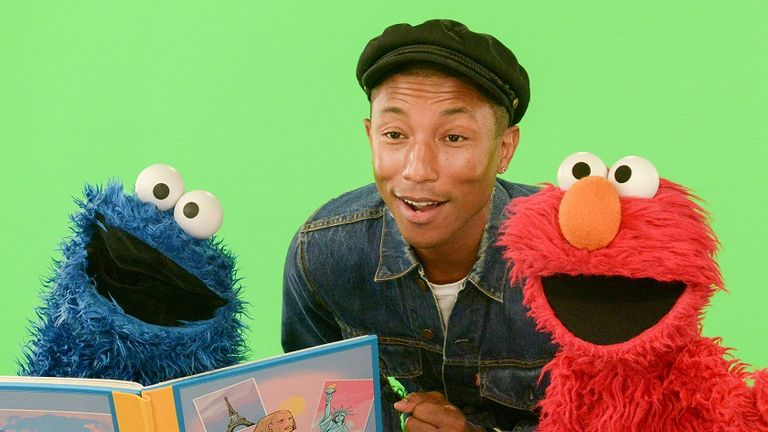 Grammy winning Pharrell Williams shares life lessons with the cast