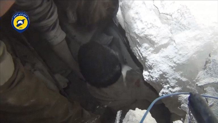 More children rescued from rubble in Syria