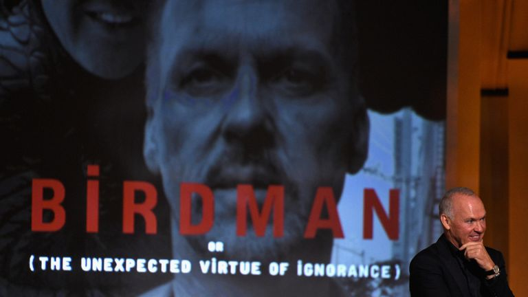 Keaton played former cinema superhero Riggan Thomson in Birdman