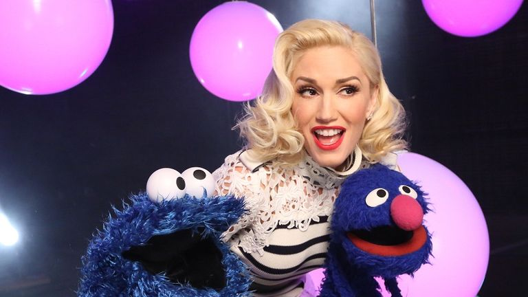 Gwen Stefani joins the cast of Sesame Street to sing Be a Good Friend