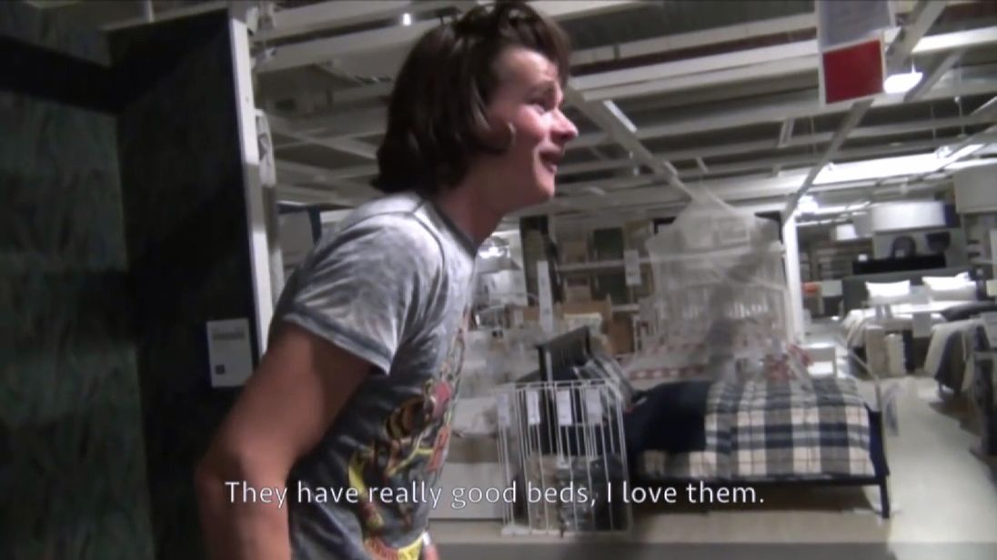 Sleepovers  in Ikea stores have become a new fad