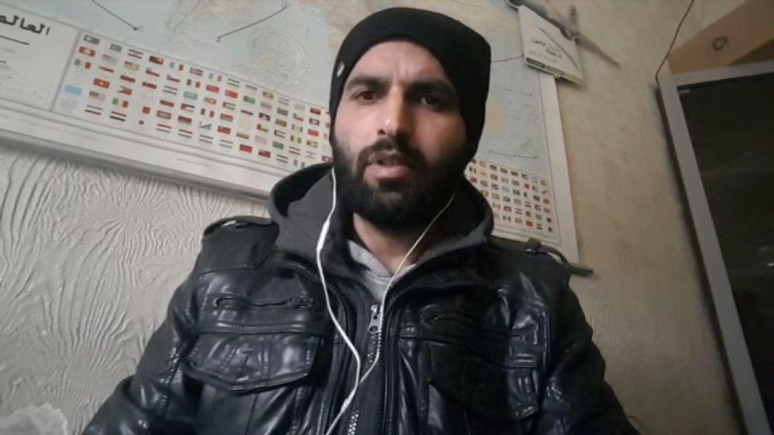 Ishmael al Abdullah of the Syria Civil Defence group