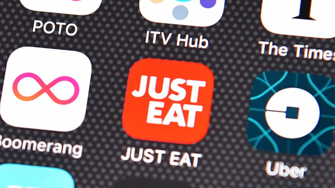 Just Eat app August 2016