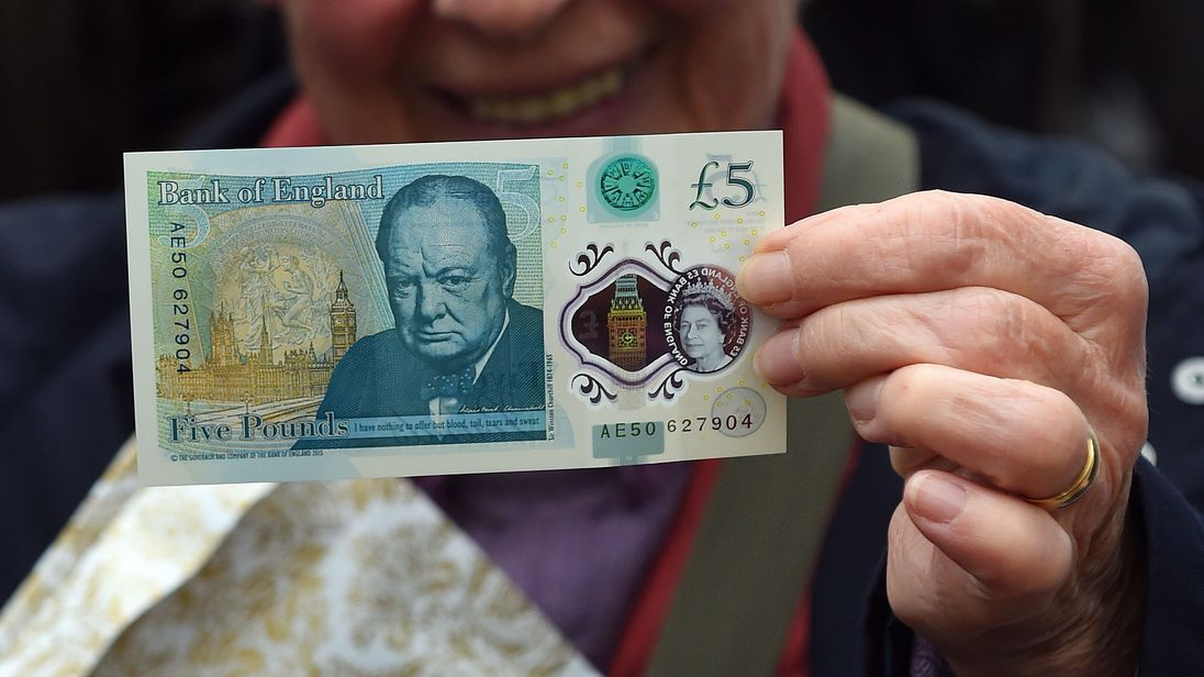 The new £5 banknote came into circulation in September