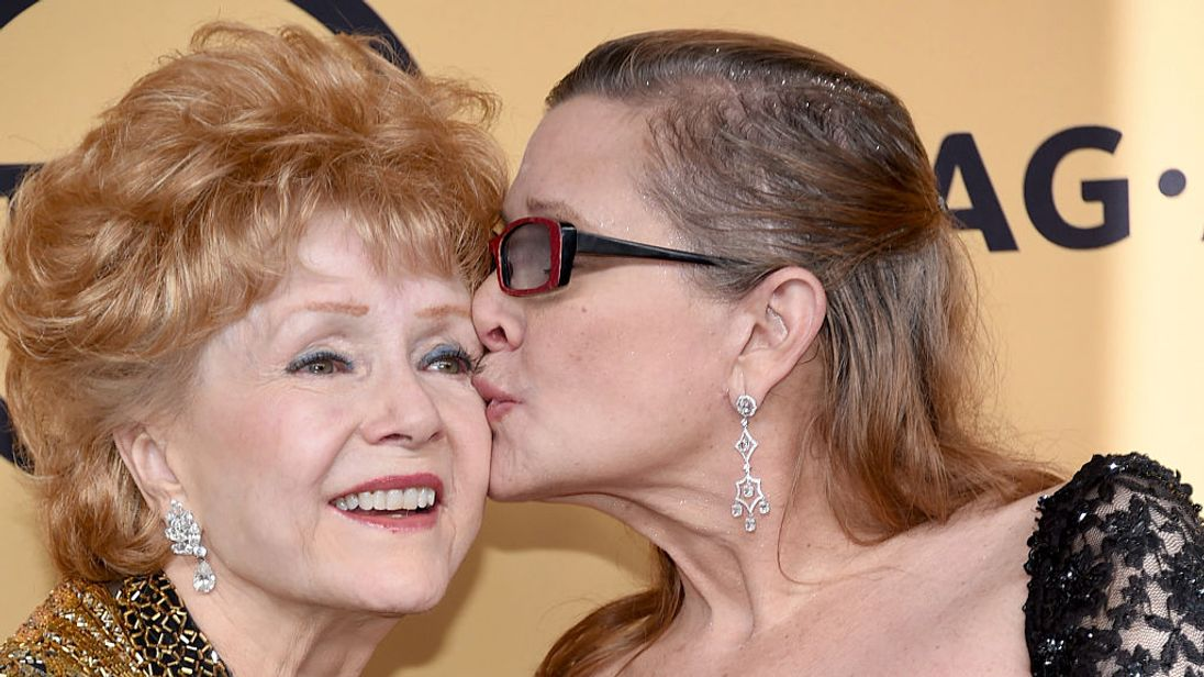 Debbie Reynolds and her late daughter Carrie Fisher
