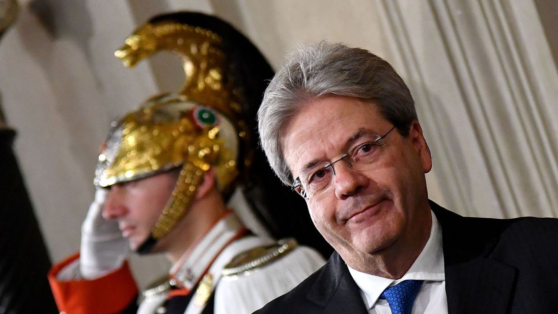 Paolo Gentiloni minutes after receiving the mandate to form the new Italian government