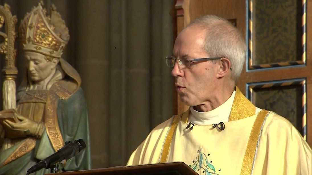Justin Welby's Christmas sermon reflected reflected on events of 2016