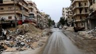 The streets of east Aleppo after evacuation and bombardment