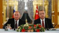 Russian President Vladimir Putin during a joint news conference with his Turkish counterpart Tayyip Erdogan following their meeting in Istanbul, Turkey, October 10, 2016