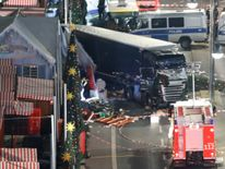 The lorry is seen from above in the position in which it came to rest