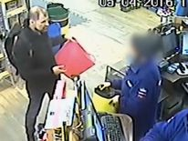CCTV footage showed Stefano Brizzi buying buckets after the killing from a DIY store