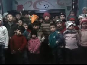 The orphans appeared in a video last week. Pic: SAMS