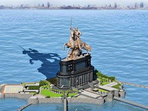 India will begin construction of the world's tallest statue off the coast of Mumbai