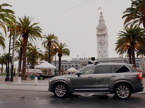 Uber's self-driving car that is operating in San Francisco. Pic: Uber