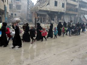 Syrian residents fleeing violence