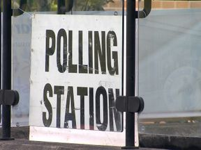 A UK polling station
