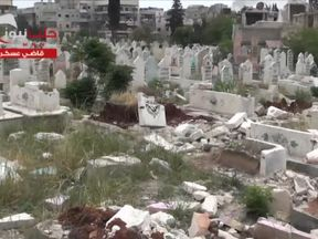 Qadi Askar cemetery in Aleppo has been damaged