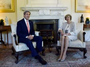 US Secretary of State John Kerry held talks with Theresa May in Downing Street earlier this year