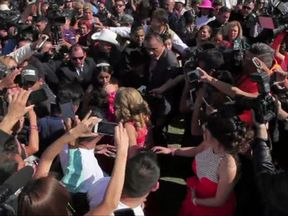 Crowds mob Rubi Ibarra as her 15th birthday party attracts thousands thanks to Facebook.