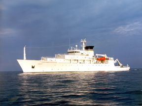 The oceanographic survey ship USNS Bowditch, which deployed an underwater drone seized by China