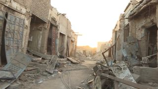 Parts of Sa'adah have been left devastated by bombing