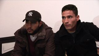 Walid (L) and Abdelkader Amri, brothers of suspect Anis Amri