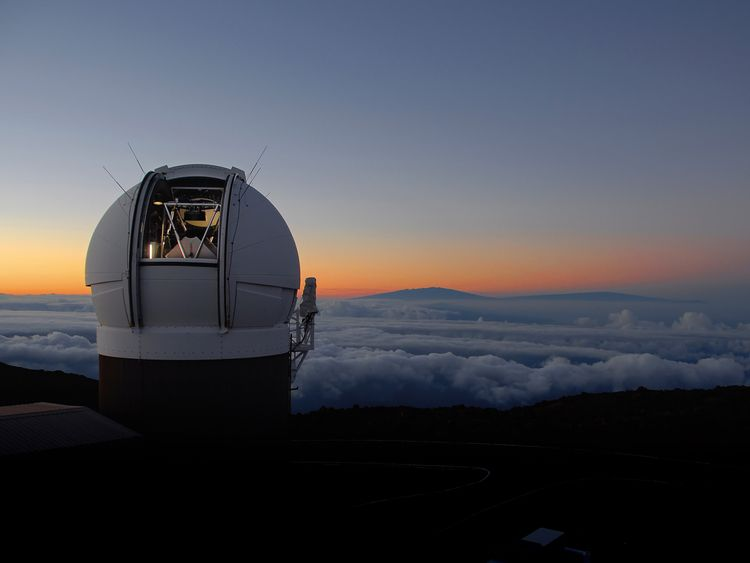 The telescope located at the summit of Haleakala volcano. Pic: R Radowski