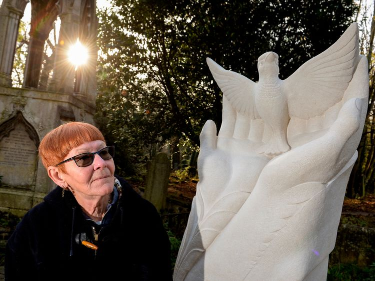 Jean Clark raised the money for the sculpture