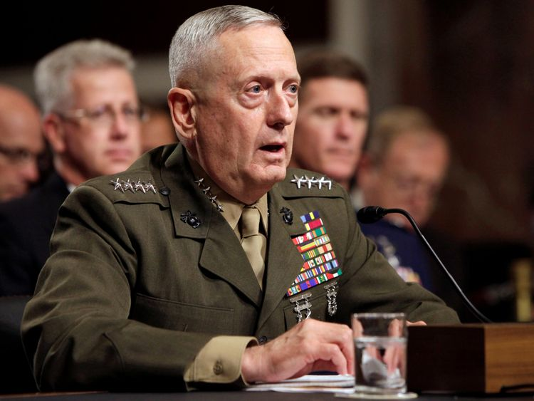 General James Mattis testifies before the Senate Armed Services Committee hearing on Capitol Hill in Washington July 27, 2010, on his nomination to be Commander of U.S. Central Command