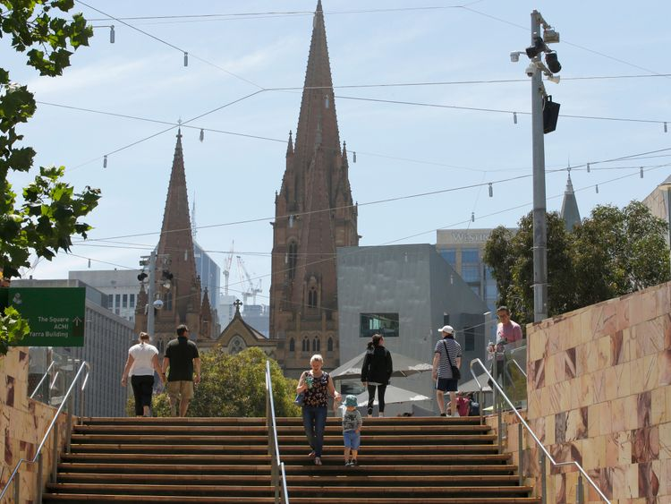 Melbourne's St Paul's Cathedral is thought to have been a possible target