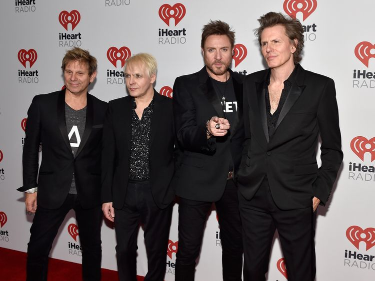 Members of British new wave pop group Duran Duran