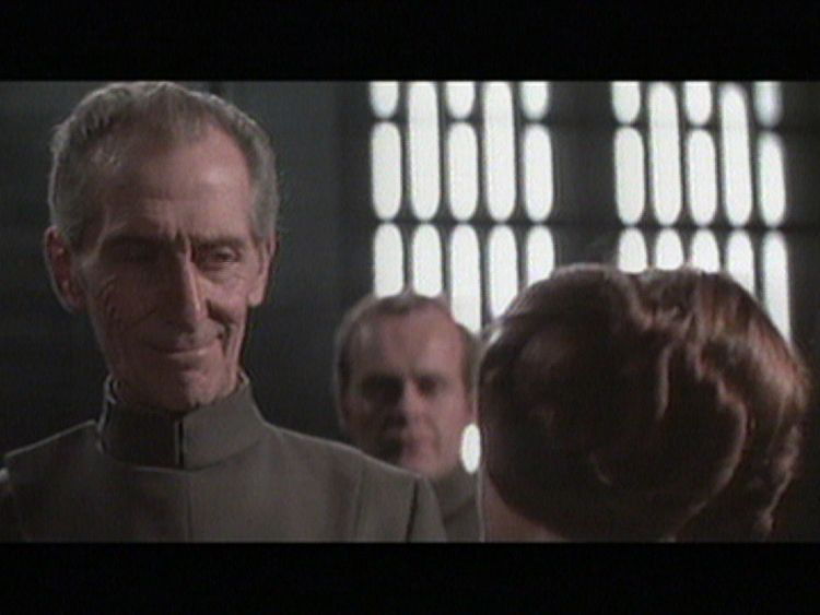 Peter Cushing starred as Grand Moff Tarkin in 1977's A New Hope