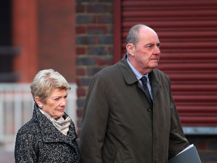 Pauline and Michael Cranch, the parents of Matthew Cranch, arrive at Maidstone Crown Court