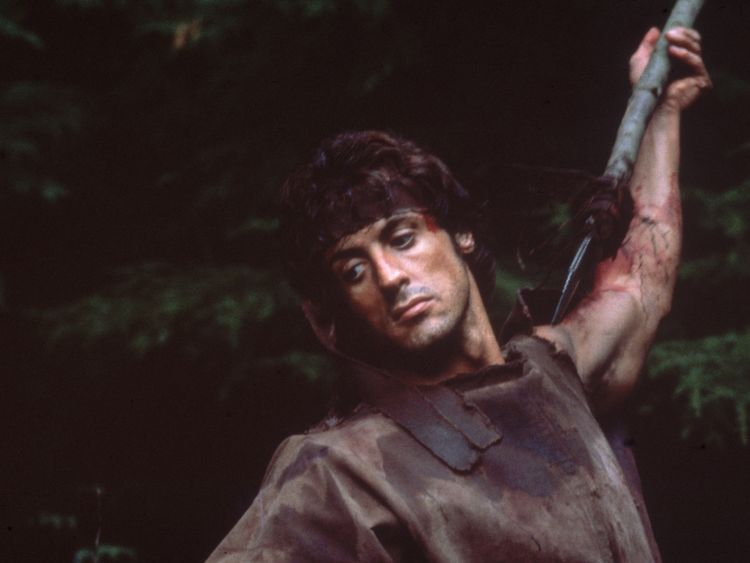 Stallone as Rambo in around 1980