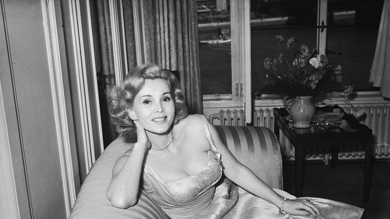 The Hungarian actress pictured in 1952