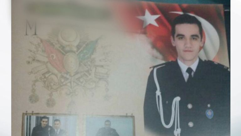 The police officer, not yet identified, believed to have shot and killed the Russian ambassador to Turkey Andrey Karlov.