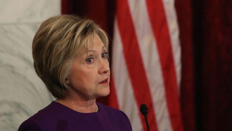 Hillary Clinton warns of fake news 'epidemic'.