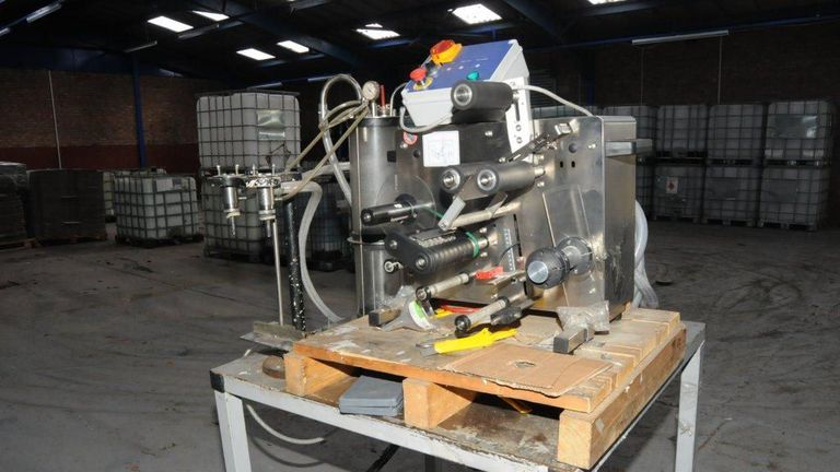 A machine found in a fake vodka factory uncovered in Cheshire in 2015. Pic: HMRC