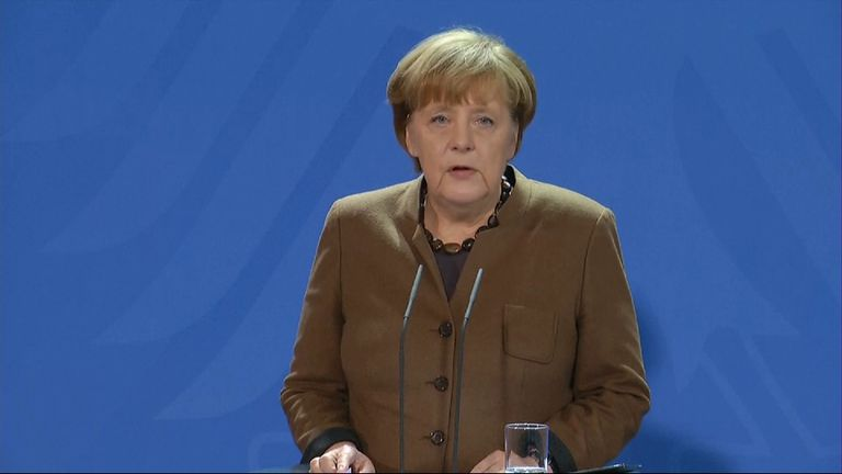 German Chancellor Angela Merkel says all necessary measures will be taken to ensure better security.